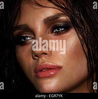 Close Up Portrait of young woman Banque D'Images