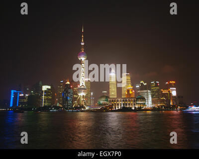 Nuit à Shanghai Banque D'Images