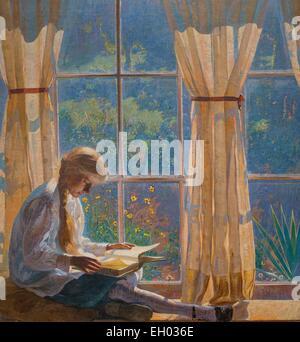 ActiveMuseum_0003290.jpg / Le Verger fenêtre (la fille de l'artiste Tanis) - huile sur toile 26/06/2013 - 20e siècle Banque D'Images