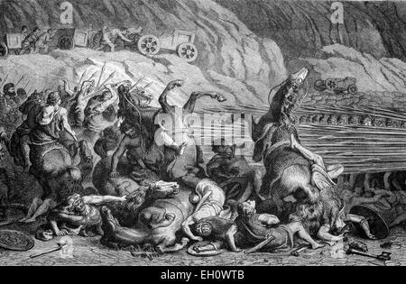 Application de la phalange Greek-Macedonian formation de bataille dans la guerre contre les Thraces, illustration Banque D'Images