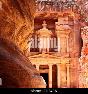 Trésor de Petra (Al khazneh), Jordanie Banque D'Images