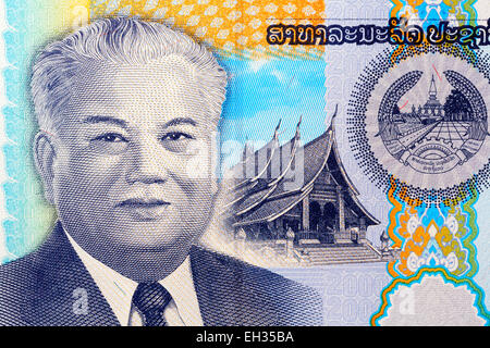 Président Kaysone Phomvihane à partir de 2000 euros, le Laos, kip 2011 Banque D'Images