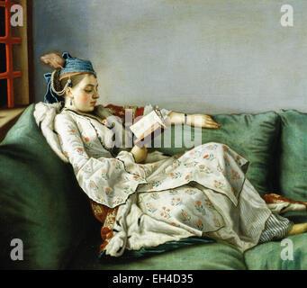 Jean Etienne Liotard Portrait of Maria Adélaïde de France dans les vêtements de style turc Banque D'Images