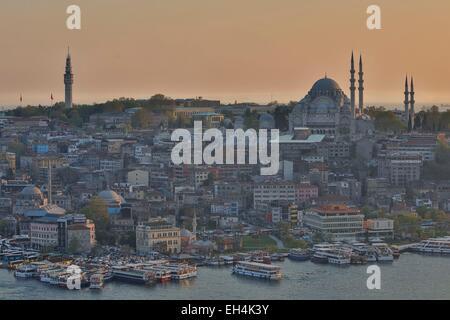 La Turquie, Istanbul, centre historique classé au Patrimoine Mondial par l'UNESCO, District de Suleymaniye Camii Banque D'Images