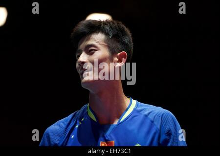Birmingham, UK. 05Th Mar, 2015. Chen Long de Chine Mens vainqueur final au Badminton Yonex All England. Credit : Banque D'Images