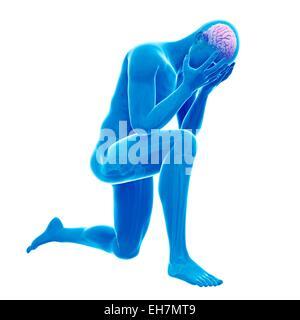 Cerveau humain, illustration Banque D'Images