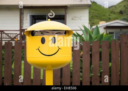 Boîtes aux lettres personnalisées en Nouvelle-Zélande. Banque D'Images
