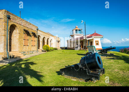 Fort King George, Scarborough, Tobago, Trinité-et-Tobago, Antilles, Caraïbes, Amérique Centrale Banque D'Images