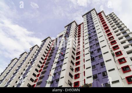 Appartement de logement public à Singapour Banque D'Images