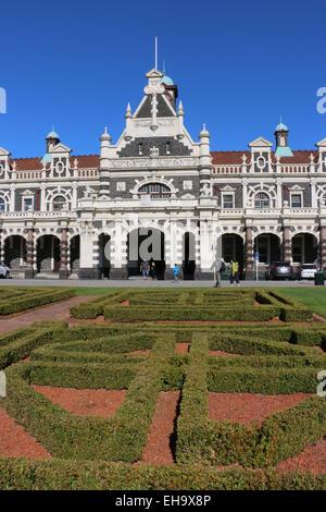 La gare de Dunedin en Dunedin Nouvelle Zélande Banque D'Images
