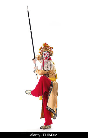 Les personnages principaux de l'opéra Monkey King Banque D'Images