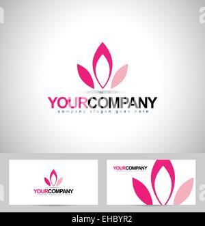 Conception De Logo Lotus Fleurs Concept Petales Creation Carte