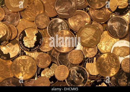 Pièces d'or Banque D'Images