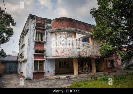 Maison à l'abandon de Chandigarh, Punjab, India Banque D'Images