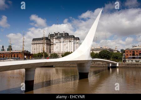 L'ARGENTINE, Buenos Aires, Puerto Madero, Puente de la Mujer, le Women's Bridge Banque D'Images
