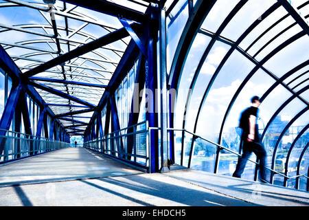Corridor moderne bleu Banque D'Images