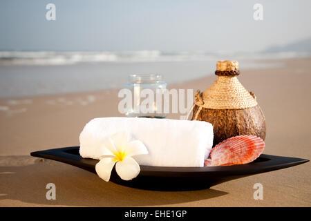 SPA sur la plage Banque D'Images