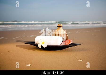 Objets SPA sur la plage Banque D'Images