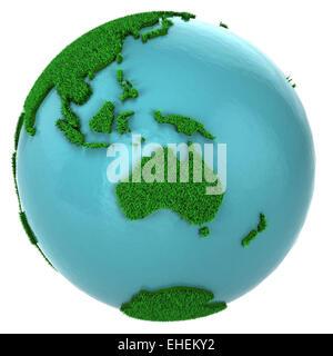 Globe de l'herbe et l'eau, partie de l'Australie Banque D'Images