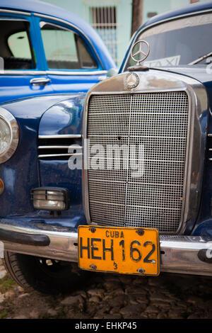 Détails sur voiture classique, Trinidad, Cuba Banque D'Images