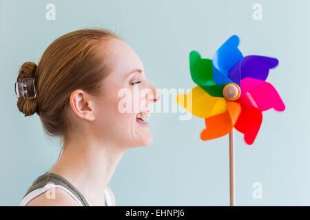Image conceptuelle du souffle. Banque D'Images