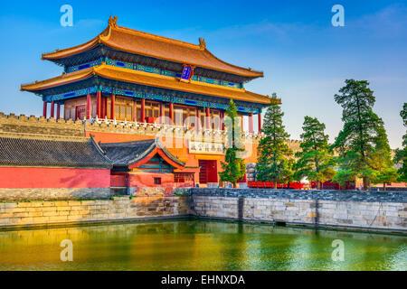 Beijing, Chine Cité interdite à l'entrée nord. Banque D'Images