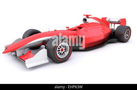 Course de Formule Voiture rouge conçu par moi-même Banque D'Images