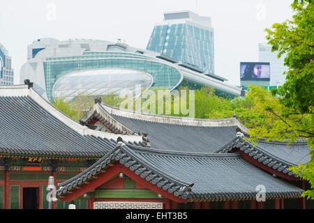 L'Asie, République de Corée, Corée du Sud, Séoul, palais Deoksugung Banque D'Images
