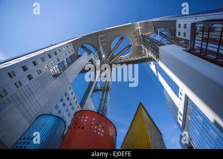 City, Japon, Asie, Kansai, Osaka, Ville, gratte-ciel Umeda, Bâtiment, architecture, coloré, touristique, voyage Banque D'Images