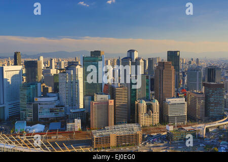 City, Japon, Asie, Kansai, Paysage, Ville, Osaka, Umeda, l'architecture, colorée, sans personnage, ronde, Skyline, Banque D'Images