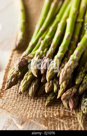 Les matières premières organiques prêtes à cuire les asperges vertes