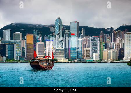 Hong Kong, Chine sur la ville. Banque D'Images