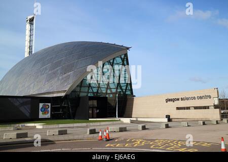Entrée du centre des sciences de Glasgow Ecosse Royaume-Uni pacific quay Banque D'Images