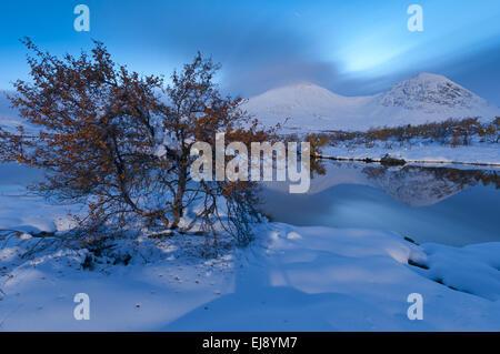 Paysage d'automne dans la neige, Rondane NP, Norvège Banque D'Images