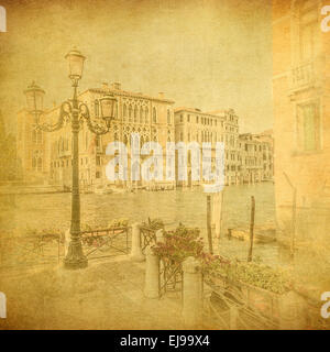 Image vintage de Venise, Italie Banque D'Images
