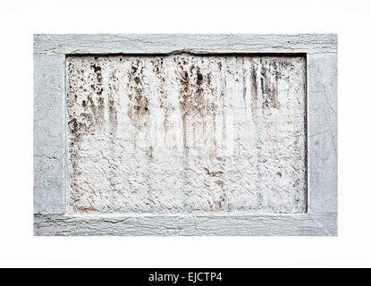 Bâti en pierre sur fond blanc Banque D'Images