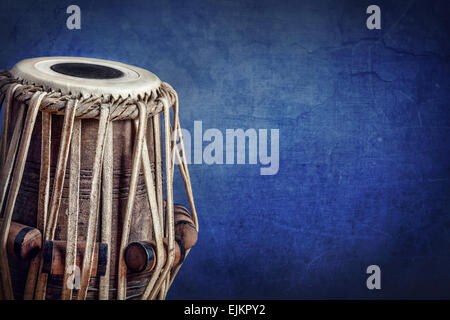 Tabla drum instrument musique classique indienne close up Banque D'Images