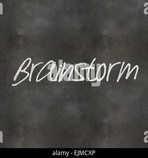 Un concept en rendu 3d illustration Brainstorm écrit sur un tableau noir Banque D'Images