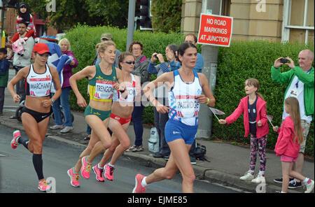 Susan Partridge, Lanni Marchant, Jess Trengove & Aly Dixon exécutant du marathon féminin à la Glasgow Jeux du Commonwealth Banque D'Images