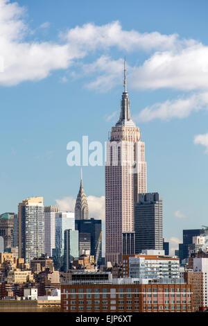 Empire State Building et Manhattan, New York, États-Unis d'Amérique Banque D'Images
