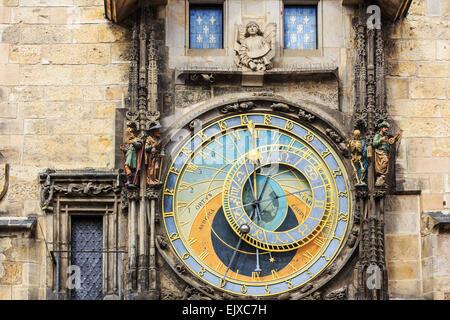 Horloge astronomique de Prague. République tchèque Banque D'Images