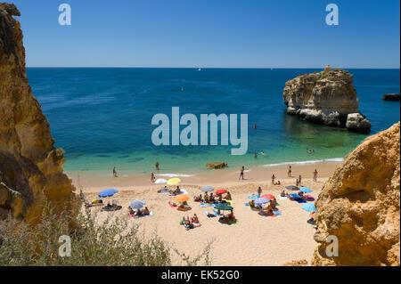 Portugal Algarve, petite plage près de Albufeira, Praia de São Rafael Banque D'Images