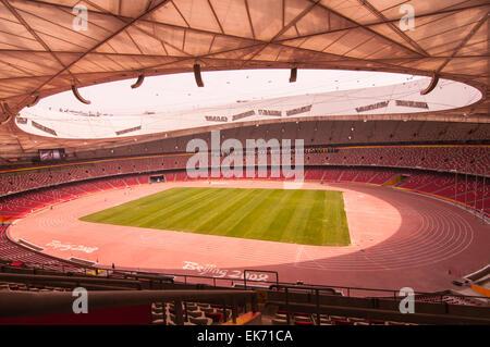 Vue voyant le long de la journée au stade national de Beijing, Chine, Banque D'Images