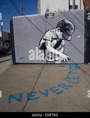 Los Angeles, USA. 14Th Nov, 2014. Photo prise le 14 novembre 2014 affiche graffiti dans Brooklyn de New York City, Banque D'Images