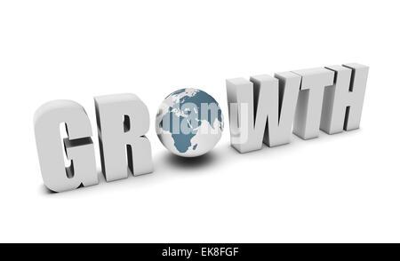 Croissance mondiale Banque D'Images