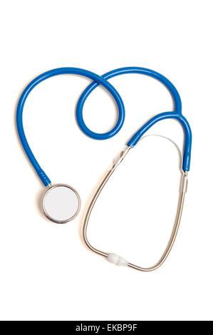 Stéthoscope dans la forme de coeur sign Banque D'Images