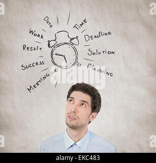 Concept de planification de la journée d'affaires