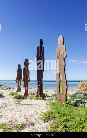 Sculpture sur les dunes de la Pine Beach, Australie occidentale Banque D'Images