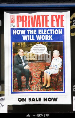 """Private Eye intitulé """"Comment le travail de l'élection"""" Banque D'Images"""