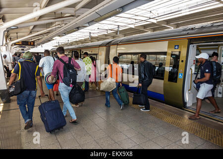 Afrique Afrique du Sud Johannesburg O. R. Tambo International Airport Gare Gautrain mass rapid transit système ferroviaire Banque D'Images
